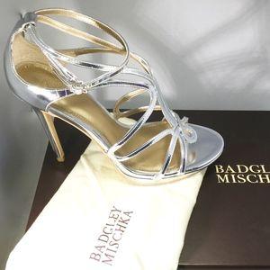 Badgley Mischka Silver Sandals size 7.5